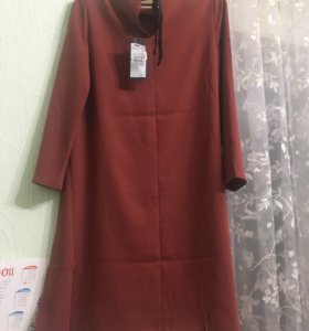 Платье с завязочкой  инсити,украшение в подарок