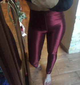 Штаны на высокой талии,модного цвета