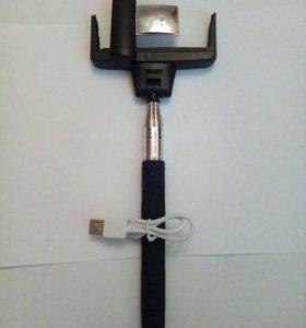 Селфи-палка (монопод) Bluetooth с зеркалом
