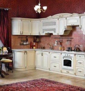 Кухня с патиной.Доставка в Звенигород бесплатно!