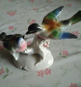 Фарфоровая статуэтка Птицы, Германия
