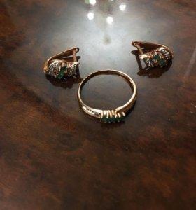 Комплект изумруды и бриллианты