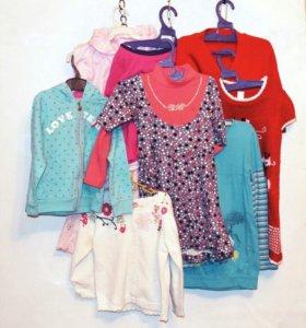 Комплект одежды для девочки на 2-4 года + подарок