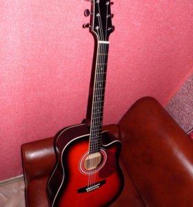 Акустическая гитара Naranda DG120CBS с вырезом.