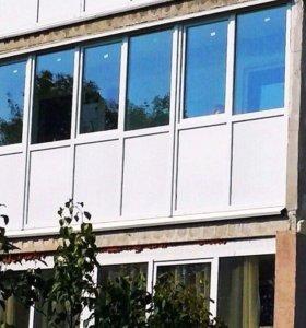 Установка балконов и окон