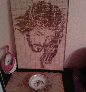 Картина Иисуса из спичек