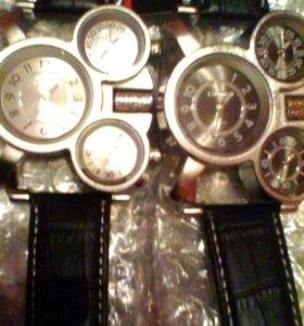 Часы мужские с тремя циферблатами.СКИДКА!!!!