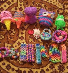 Игрушки из резиночек