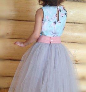 Новое.3в1Трансформер. Нарядное платье детское