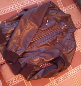 Новая кожаная женская куртка