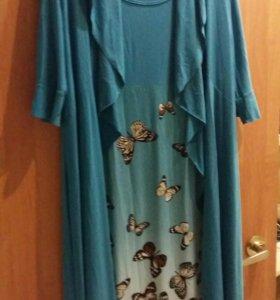 Платье 52-54 одето 1 раз