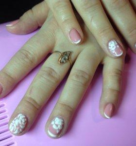 Покрытие ногтей гель лаком +дизайн