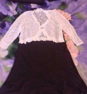 Платье с кружевным болеро