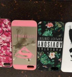 Чехлы на iPhone 5s,4 штуки