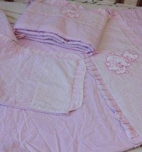 Комплект постельного белья и бортики