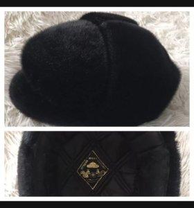 Зимняя мужская шапка из нерпа