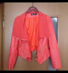 Куртка кожанная М(42-44)