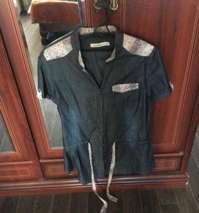 Костюм джинсовый (пиджак и бриджи)