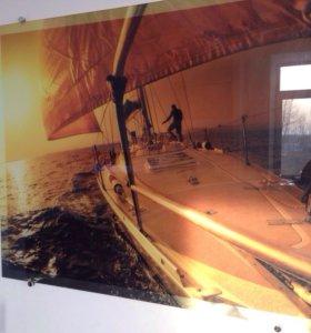 Пано на стекле с фото печатью