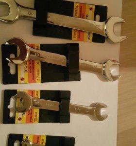 Ключи рожковые от 6 до 19