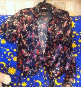 Блуза на поясе