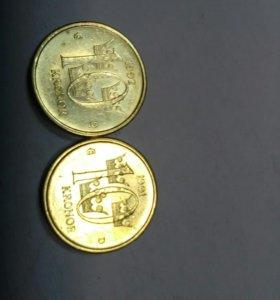 Монета 10 крон Швеция