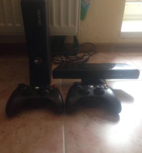X-box 360 slim 250 gb+Kinect+игры