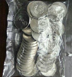 Монета в коллекцию 25 рублей 2018, футбол,50 штук