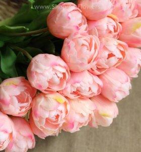 Искуссвенные цветы. Силикон Тюльпан бокал