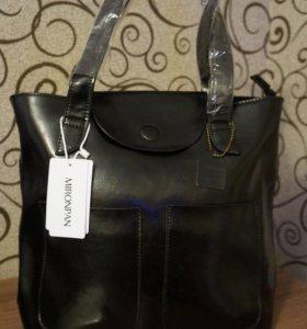 Кожаная женская сумка MIRONPAN