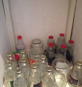 Бутылки и банки стеклянные