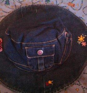 Джинсовая шляпка на модницу. Новая.