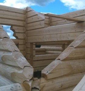 Срубы деревянных домов бань