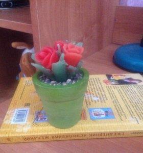 Свеча 3 розы