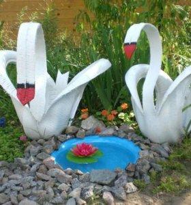 Лебеди из резиновых колёс