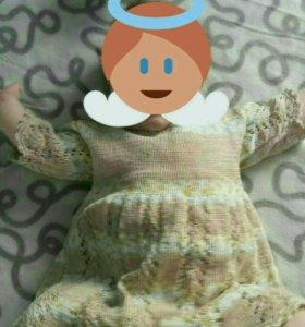 Связанное платье