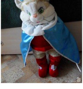 Мягкая игрушка кот в сапогах