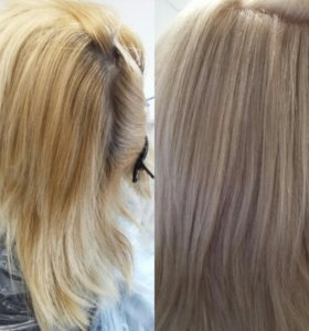 Окрашивание волос, прически,макияж