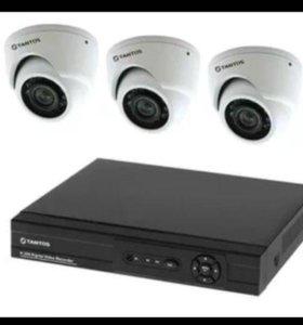 Видеонаблюдение видеокамеры, датчики