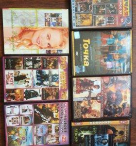 Диски с кино , мультфильмы , игры