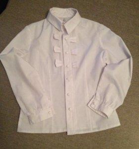Блузка, рубашка школьная для девочки, 140