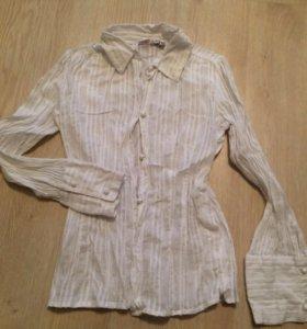 Белая блузка, р.134-140