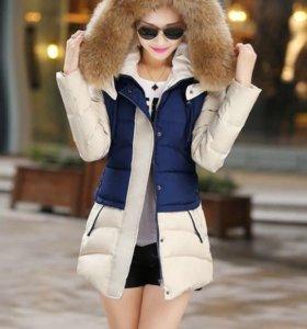 Удлиненная куртка с капюшоном
