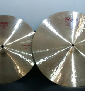 "ЗА ДВЕ!!! PAISTE 2002 crash 16"", medium 18"""