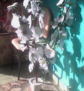 Цветы для интерьера двора и дома .Ручная сборка