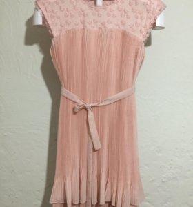 Нежное итальянское платье персикового цвета