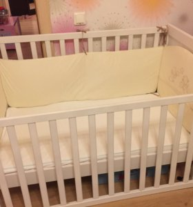 Кроватка детская, белая ИКЕА