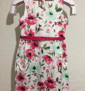 Летнее нарядное платье для девочки