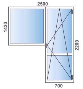 Балконный блок 2500-2200