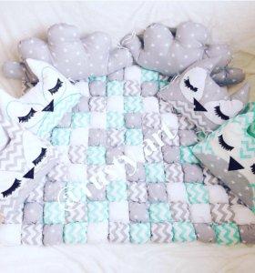 Бомбон одеяло,бортики в кроватку